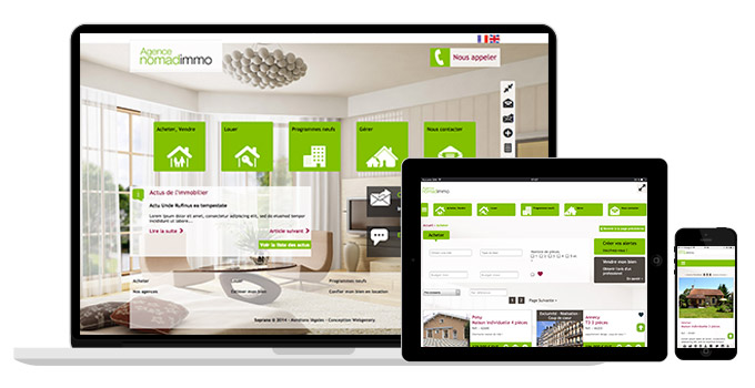 Un site immobilier performant simple fluide webgenery for Site immobilier