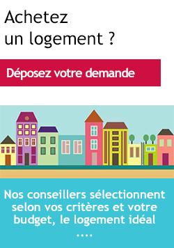 Achetez un logement ? Déposez votre votre demande