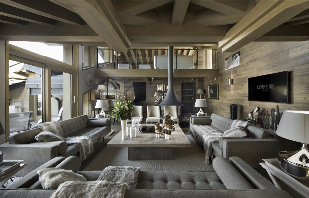 construction chalet de luxe courchevel. Black Bedroom Furniture Sets. Home Design Ideas